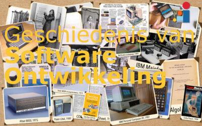 Geschiedenis van Software Ontwikkeling (zelfstudie)