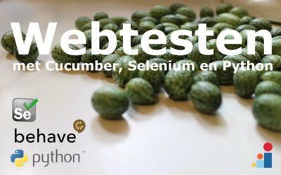 Webtesten met Cucumber, Selenium en Python